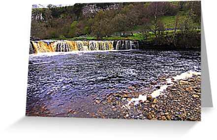 Wainwath Falls, River Swale, North Yorkshire by Ian Alex Blease