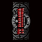 Te Rarawa Lifer moko Red chrome by Revolution Aotearoa
