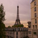 Eiffel Tower at Sunset by Louise Fahy