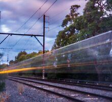 Commuter Train by John Violet