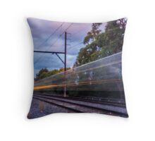 Commuter Train Throw Pillow