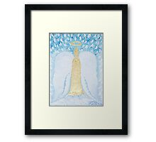 Angelic Candle Framed Print