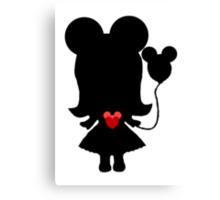 My heart has ears Canvas Print