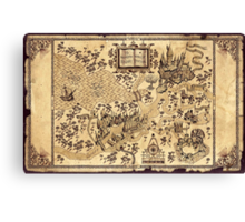 La Mappa del Malandrino Canvas Print