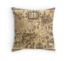 La Mappa del Malandrino Throw Pillow