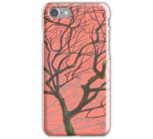 tree on pink iPhone Case/Skin