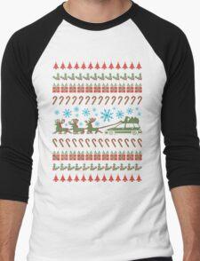 xmas wagon 2015 Men's Baseball ¾ T-Shirt