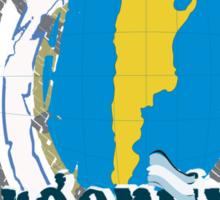 Argentina Globe Sticker