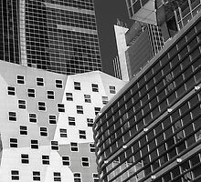 Jagged Building Contrast by Michel Godts