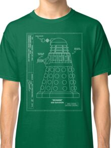 Bracewell's Ironside (Dalek) Blueprints Classic T-Shirt
