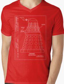 Bracewell's Ironside (Dalek) Blueprints Mens V-Neck T-Shirt