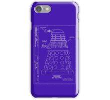 Bracewell's Ironside (Dalek) Blueprints iPhone Case/Skin