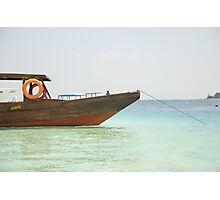 Boat on the beach Photographic Print