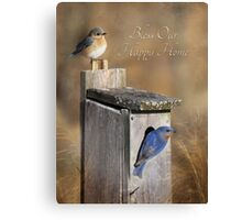 Bless Our Happy Home Canvas Print