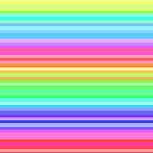 bright happy rainbow stripes by tabbygun