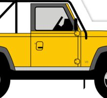 A Graphical Interpretation of the  Defender 90 NAS Soft Top Sticker