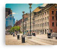 Boston Waterfront Massachusetts Canvas Print