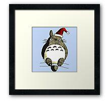 Totoro Christmas Framed Print