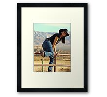 All American Cowgirl Framed Print