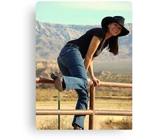 All American Cowgirl Canvas Print