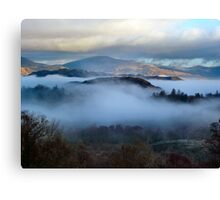 Mist in the valley Cumbria Canvas Print