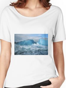 Iceberg With Penguins On Top Women's Relaxed Fit T-Shirt