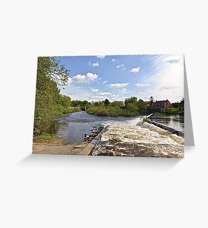 The Weir @ Boroughbridge Greeting Card