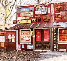 The Old Country Store and Gas Station by Cathy Donohoue