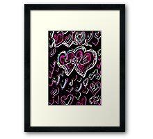 Love neon Framed Print