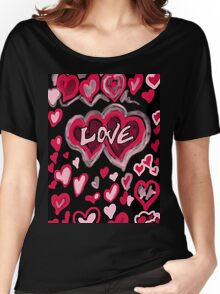 Love abstract Women's Relaxed Fit T-Shirt