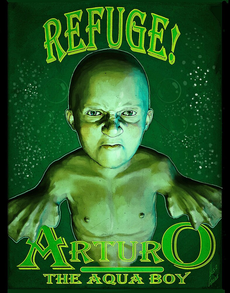 Arturo the Aqua Boy by senatorgreaves