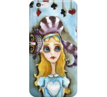 Alice in Wonderland - cat head iPhone Case/Skin