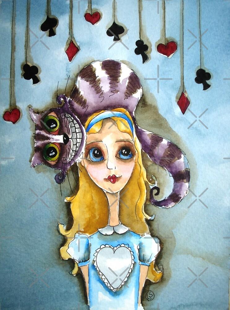 Alice in Wonderland - cat head by StressieCat