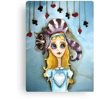 Alice in Wonderland - cat head Canvas Print