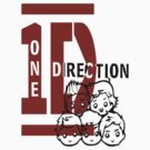 1D logo with cartoon face by vitto00