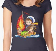 Brave sailor  Women's Fitted Scoop T-Shirt