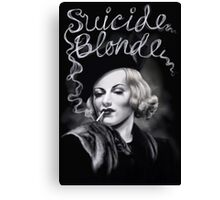 Suicide Blonde Canvas Print