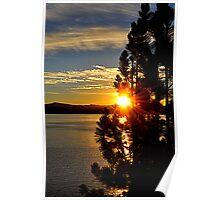 """Tahoe Sunset"" Poster"
