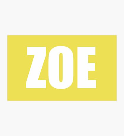 Zoe Hanna Photographic Print