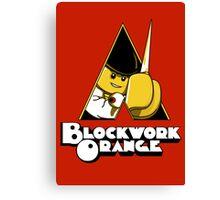 Blockwork Orange Canvas Print