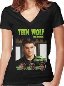 Teen Wolf Old Comic [Theo] Women's Fitted V-Neck T-Shirt