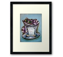 Cheshire Cat on a top hat Framed Print