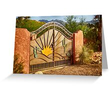 Sunny Gate Greeting Card