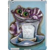 Cheshire Cat on a top hat iPad Case/Skin