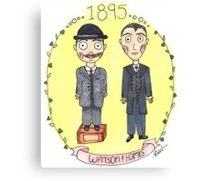 Holmes and Watson 1895 Canvas Print