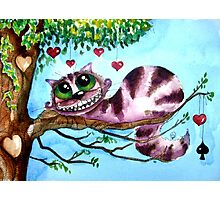 The Cheshire Cat - so much love Photographic Print