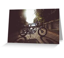 Royal Enfield CHAI RACER Greeting Card