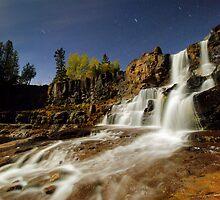 Gooseberry Falls on a Moonlit Night by Michael Treloar