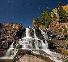 Full Moon, Gooseberry Falls by Michael Treloar