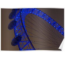 London Eye by night - close up Poster